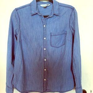 Denim Button-Up Shirt